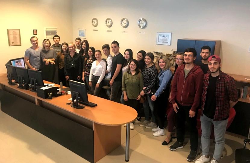 Erasmus students on forex education in AureusInvest