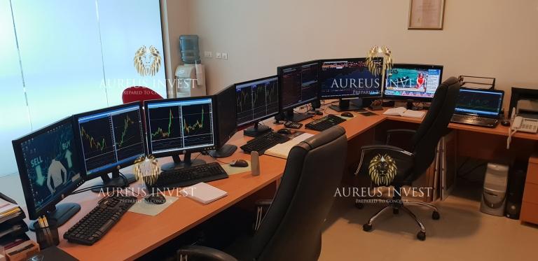 Aureus Invest trading desk 2018