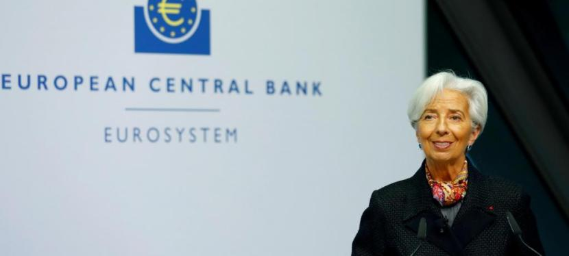 The ECB kept monetary stimulus unchanged at President Christine Lagarde's first policy meeting